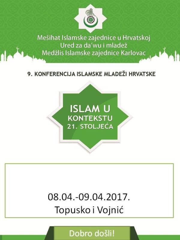 9. Konferencija islamske mladeži Hrvatske 8.04.-9.4.2017. u Topuskom