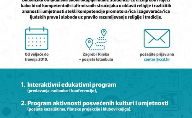 Poziv za sudjelovanje u Balkanskoj omladinskoj školi 2019.