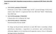 Otkazivanje i odgoda planiranih aktivnosti na razini MIZ Sisak