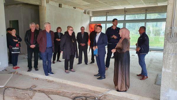 Ministrica vanjskih poslova BIH dr.Bisera Turković posjetila gradilište IKC Sisak