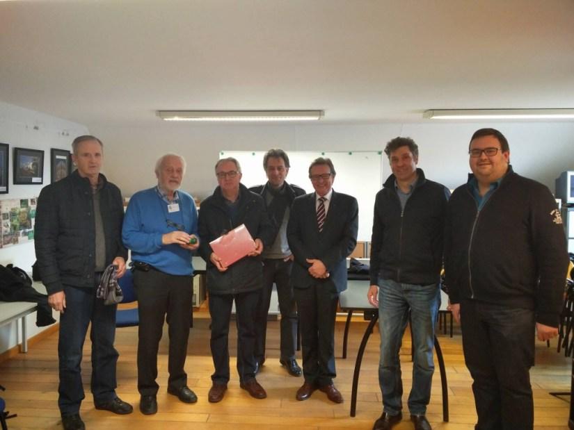 Freddy & Oktaaf Duerinckx, Vital Craeninckx, Burgemeester Rudi Beeken, Mark Kenes, dr. Oliver Van Wrochem & Tom Devos