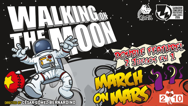 Walking on the moon. Portada.