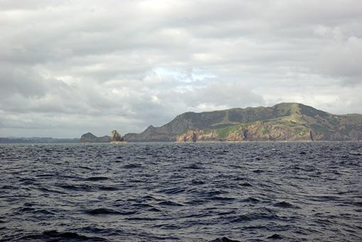 Die Einfahrt der Bay of Islands von See