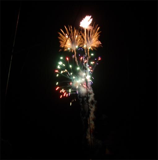 Ein Feuerwerk zum Abschluss der Fiesta