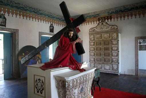 Interessante Jesusfigur, für den Osterumzug