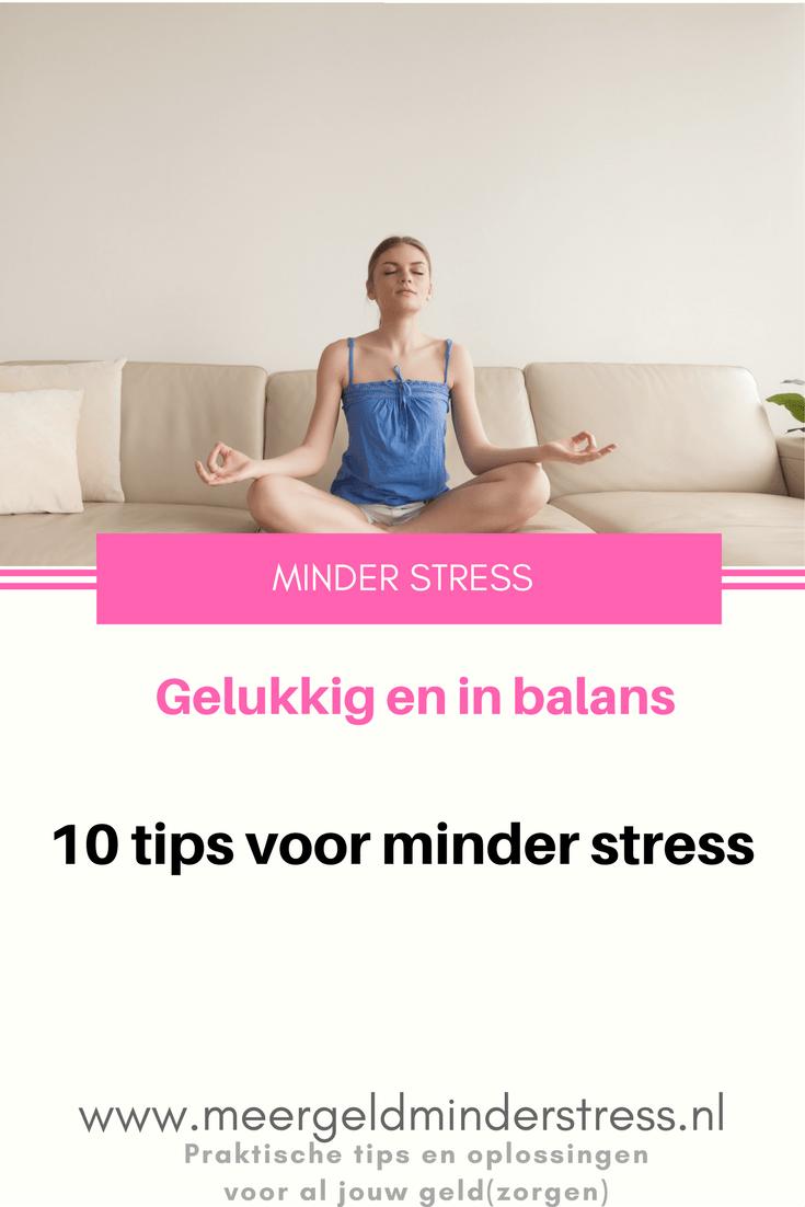 Minder stress