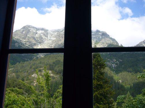 02 Uitzicht uit hotel I Laricci in Vizzavone