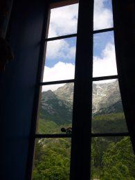 03 Uitzicht uit hotel I Laricci in Vizzavone
