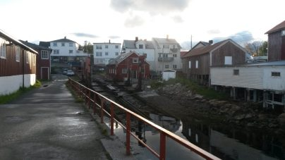 Een oude scheepshelling in Henningsvær
