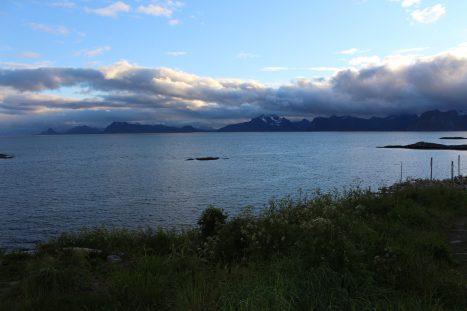 Uitzicht over het fjord