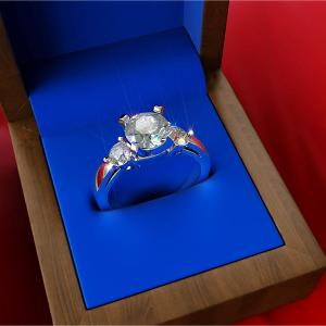 Large 3D Diamond Ring