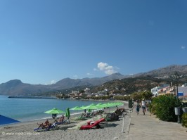 Beach at the eastern village entrance of Plakias Crete