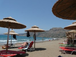 Beach life at Pachia Ammos beach in Paleochora Crete