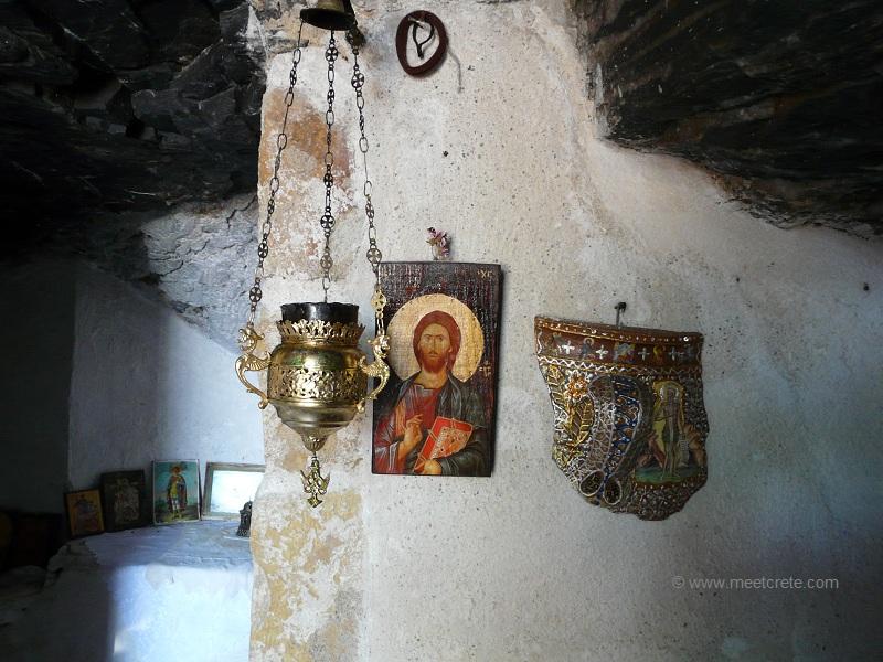 Ravdoucha beach - Agios Fanourios chapel near Ravdoucha Crete