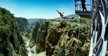 Bungy Jumping over the canyon of Aradena
