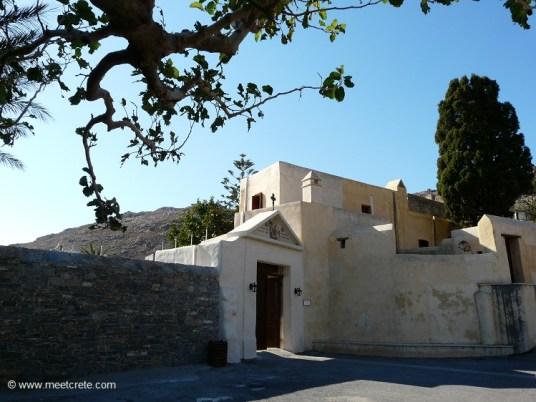 The Rear Preveli Monastery - Entrance