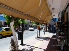 In the city center in Hersonissos Crete