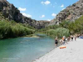 Preveli palm beach - At the river Megas Potamos in Preveli Crete