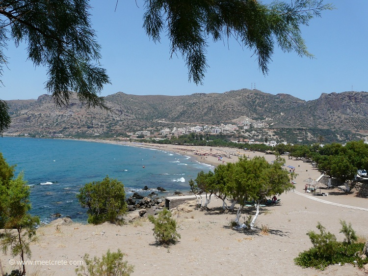 Pachia Ammos beach in Paleochora Crete