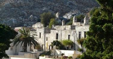 The rear Preveli monastery