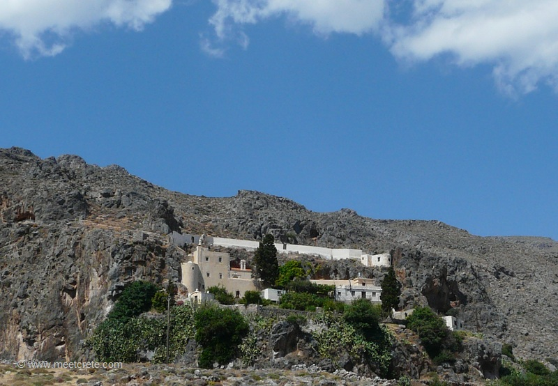 The Kapsa monastery in south east Crete