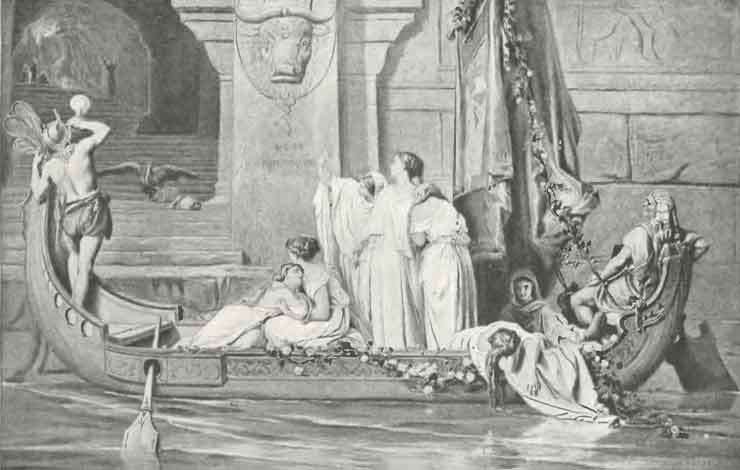 The king's daughter Ariadne, the Minotaur and Theseus