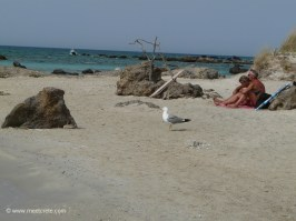 Elafonisi, exotic lagoon in southwestern Crete