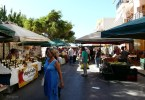 Street market locations in Crete's main towns