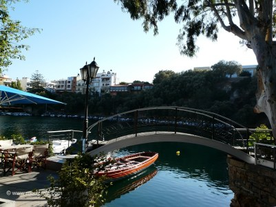 At lake Voulismeni in Agios Nikolaos Crete