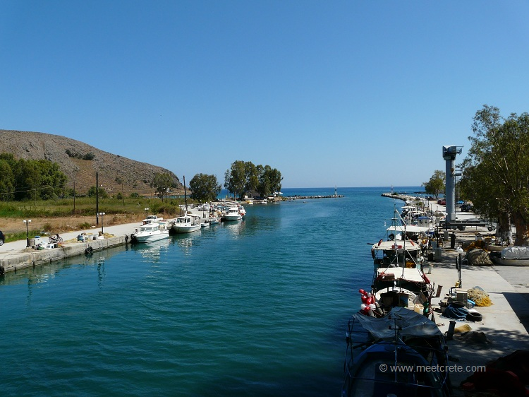 Mouth of Almyros river in Georgioupolis Crete