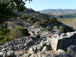 Ancient city Lato in Crete