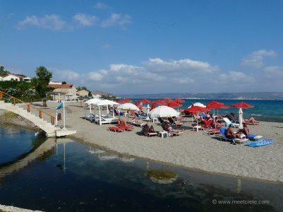 Beach in Kalives village in north west Crete