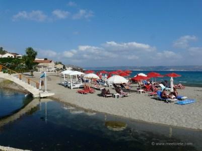 Beach in Kalives village in north west Crete
