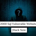 Sql Vulnerable Websites