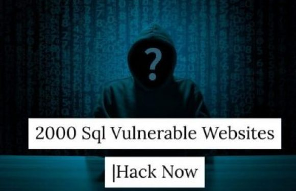 2000 SQL Vulnerable Websites |SQL Injection