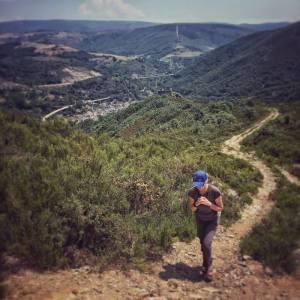 Walking a mountain trail in Norhern Spain