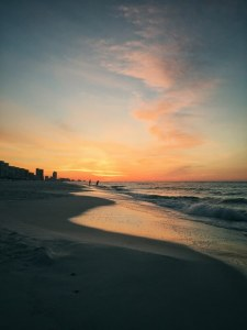 Sunrise on the beach. Gulf Shores, Alabama