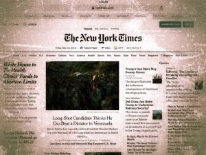 Front Page of the New York Times
