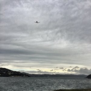 Plane taking off from Wellington