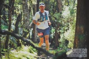 John running in the Tarawera Ultramarathon