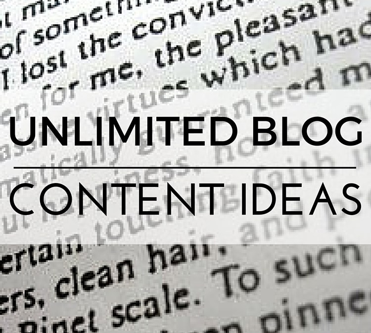 Blog Content Ideas To Explode Your Business