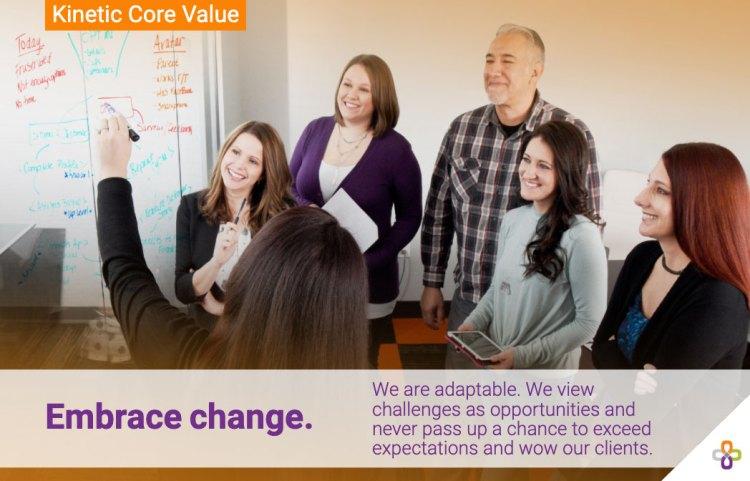 Kinetic Core Value - Embrace Change header graphic