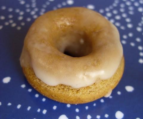 Mini Pumpkin Spice Donuts with an Apple Glaze
