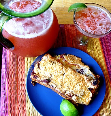 The Betty Crocker Project : Bean & Cheese Enchiladas with Strawberry Margaritas