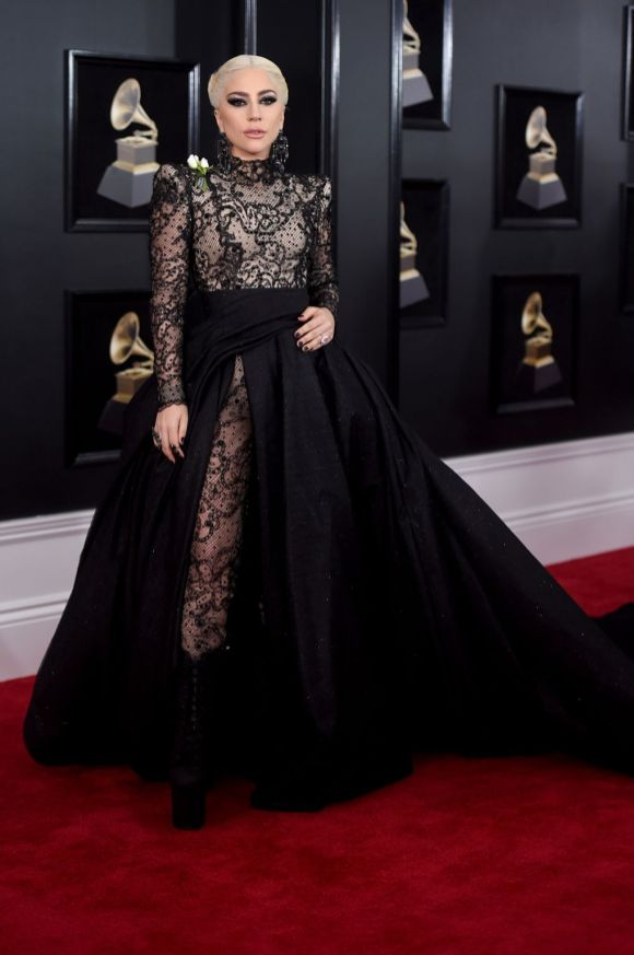 Lady Gaga in Armani Privé via Pinterest
