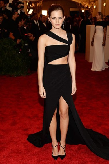 Emma Watson wearing Prabal Gurung at the Met Gala 2013 via Getty Images