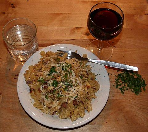 Schinken-Nudeln, ein leckeres Gericht!