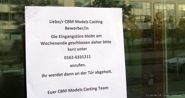 Model-Casting im Büro