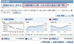 株価下落日本のみ