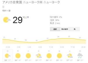 ニューヨーク天気